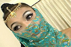 Veil Wrapped Around Her Face