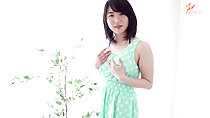 Haruka in green polka dot dress