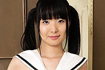 Cute Shaved Japanese Girl Miku Himeno Strips Uniform