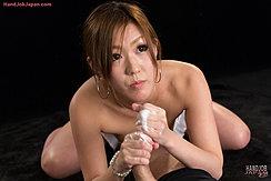Cum Gushing Over Her Hands Giving Handjob