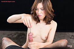 Holding Hard Cock Small Breasts