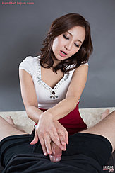 Hoshikawa Uika With Hands Laid Across Hard Cock