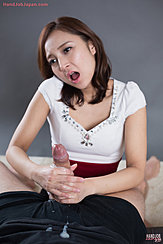 Holding Spent Cock Cum On Her Hands