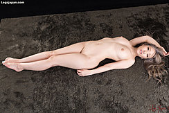 Lying On Her Back Nude Shaved Pussy Bare Feet