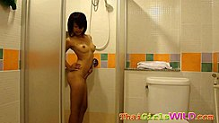 Bum Washing Her Body In Shower Bare Small Breasts