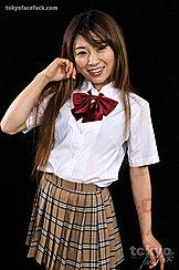 Student Miura Akina Posing In Uniform With Long Hair