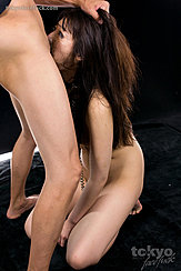 Hand In Her Long Hair Pulling Her Head Back Shiina Mizuho Deep Throating Cock On Her Knees