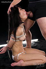 Face Fucked With Her Arms Tied Behind Her Back Hands Holding Her Head By Her Long Hair