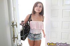 Entering House Open Door Wearing Shorts
